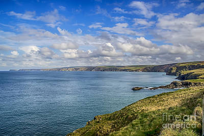 Port Isaac To Tintagel View Poster by Chris Thaxter