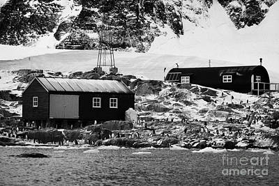 Port Lockroy British Antarctic Heritage Trust Station Buildings Including Nissen Hut Accommodation O Poster by Joe Fox