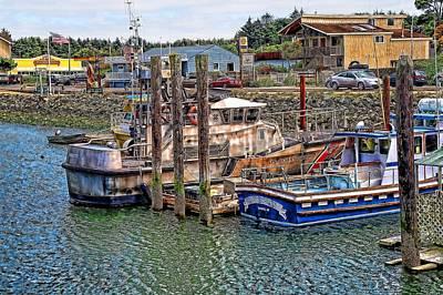 Port Of Bandon Oregon Grunge Poster by Don Bendickson