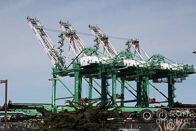 Port Of Oakland 5d22265 Poster by Wingsdomain Art and Photography