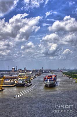 Port Of Savannah Harbor Poster by Reid Callaway