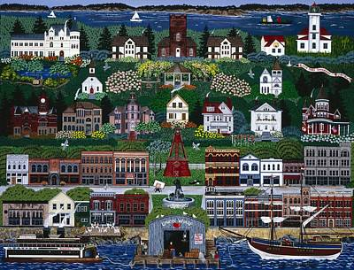 Poster featuring the painting Port Townsend by Jennifer Lake