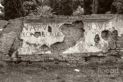 Porta Romana In Sepia Poster
