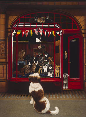 Portal Pet Show, 1993 Oils & Tempera On Panel Poster by Frances Broomfield