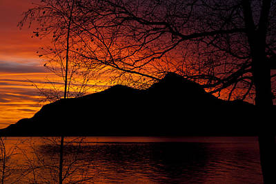 Porteau Cove Sunset Revisited Poster by Monte Arnold
