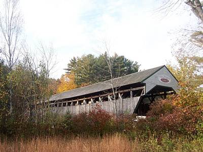 Porter Covered Bridge Poster by Catherine Gagne
