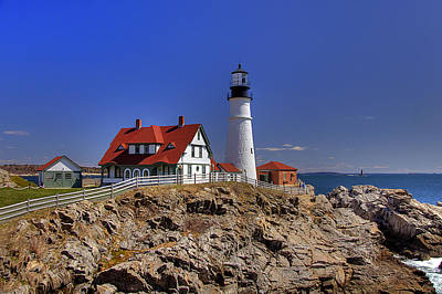 Portland Head Light 3 Poster by Joann Vitali