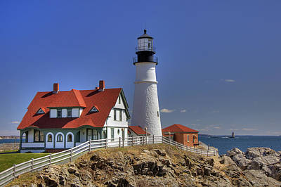 Portland Head Light Poster by Joann Vitali