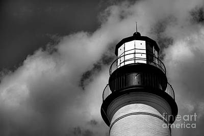 Portland Head Lighthouse In Black And White Poster
