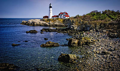 Poster featuring the photograph Portland Headlight 36 by Mark Myhaver