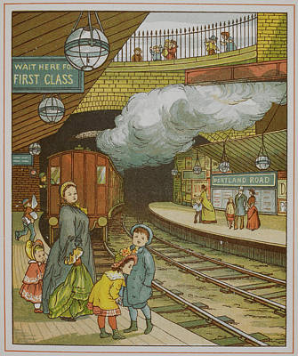Portland Road Underground Station Poster by British Library