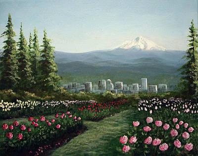 Portland Rose Garden Poster