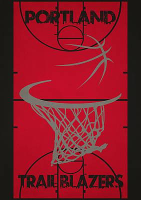 Portland Trail Blazers Court Poster