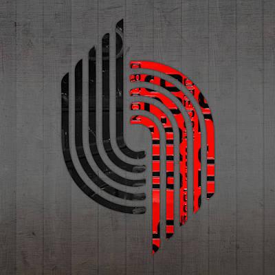 Portland Trailblazers Basketball Team Retro Logo Vintage Recycled Oregon License Plate Art Poster by Design Turnpike