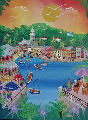 Portofino, Italy, 2012 Acrylic On Canvas Poster by Herbert Hofer