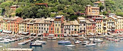 Portofino Panorama Poster by Kate McKenna