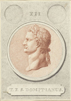 Portrait Medallion Of Domitian, Roman Emperor Poster by Quint Lox