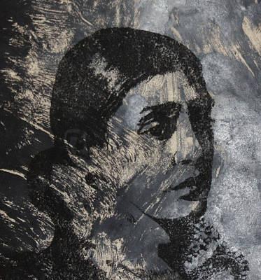 Portrait Monoprint Poster by Rachel Hames