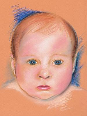 Portrait Of A Baby Poster by MM Anderson