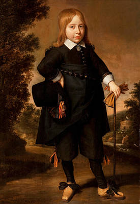 Portrait Of A Boy  Poster by French School
