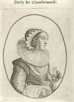 Portrait Of A Chambermaid, Anonymous, Crispijn Van De Passe Poster by Quint Lox