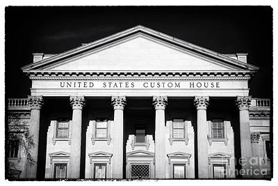 Portrait Of A Custom House Poster by John Rizzuto