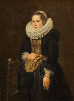 Portrait Of A Flemish Lady Poster by Anthony van Dyck