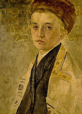 Portrait Of A Jewish Boy  Poster by Isidor Kaufmann