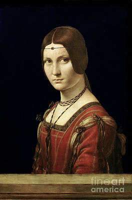 Portrait Of A Lady From The Court Of Milan Poster by Leonardo Da Vinci