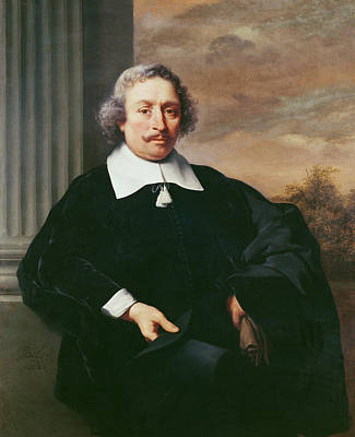 Portrait Of A Man, 1662 Oil On Canvas Poster by Ferdinand Bol