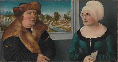 Portrait Of A Man And His Wife Lorenz Poster by Ulrich Apt the Elder