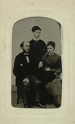 Portrait Of A Man And Two Women, Jordan Bros Ferro Type Poster
