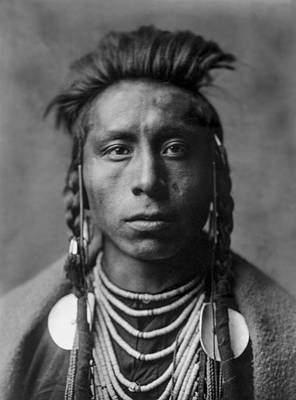 Portrait Of A Native American Man Poster by Aged Pixel