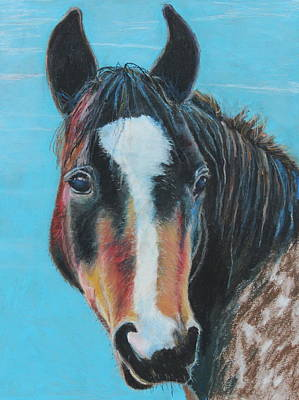 Poster featuring the painting Portrait Of A Wild Horse by Jeanne Fischer