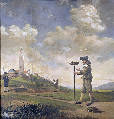 Portrait Of A Surveyor, Andries Van Der Wal Poster