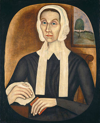 Portrait Of A Woman, C. 1845 Oil On Canvas Poster by Thomas Skynner