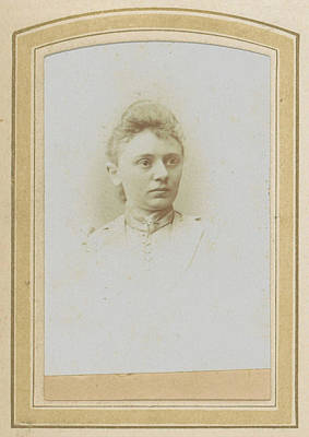Portrait Of A Woman With A High-necked Blouse With Pin Poster