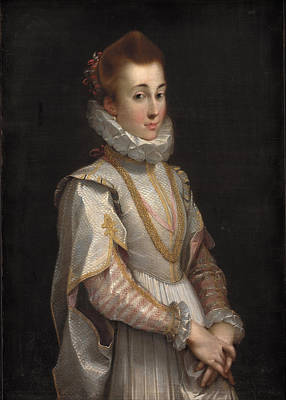 Portrait Of A Young Lady Poster by Federico Barocci