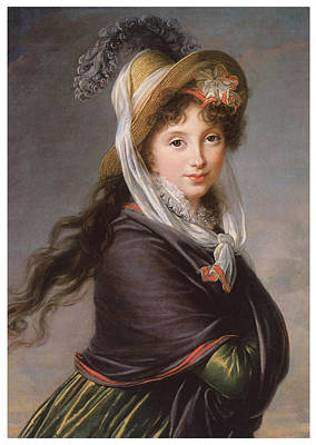 Portrait Of A Young Woman Poster by Marie Louise Elisabeth Vigee-Le Brun