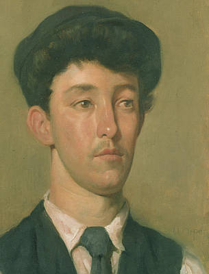 Portrait Of A Youth Poster by Sir William Orpen