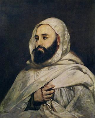 Portrait Of Abd El-kader Poster by Jean Baptiste Ange Tissier