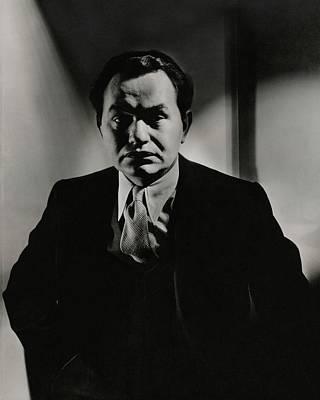Portrait Of Actor Edward G. Robinson Poster by Anton Bruehl