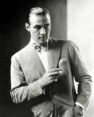 Portrait Of Actor Rudolph Valentino Poster by Edward Steichen