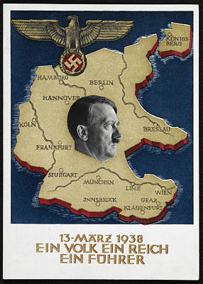 Portrait Of Adolf Hitler Poster