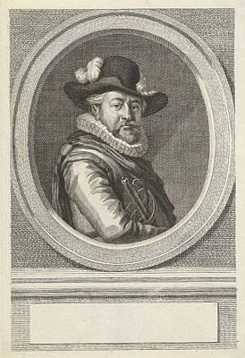 Portrait Of Albert Coenraads Burgh, Jacob Houbraken Poster by Jacob Houbraken And Paulus Moreelse And Hendrik Pothoven