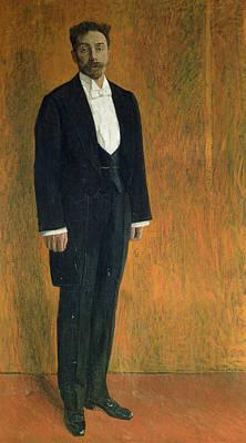 Portrait Of Alexander Skryabin 1872-1915 Gouache & Pastel On Cardboard Poster