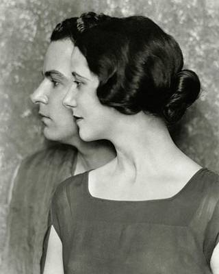 Portrait Of Alfred Lunt And Lynn Fontanne Poster by Nicholas Muray
