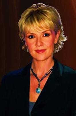 Poster featuring the digital art Portrait Of Amanda Tapping by P Dwain Morris