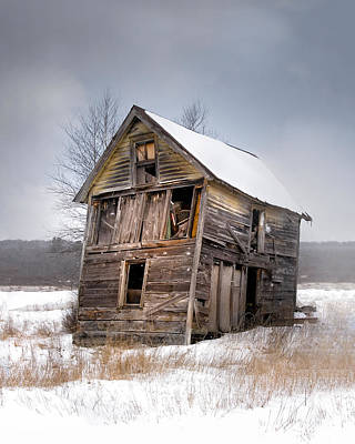 Portrait Of An Old Shack - Agriculural Buildings And Barns Poster by Gary Heller