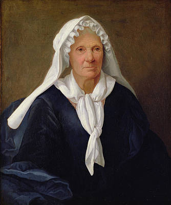 Portrait Of An Old Woman Poster by French School